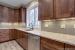 Merlot II kitchen cabinets & sink