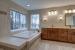 Merlot II master bathroom tub & vanity
