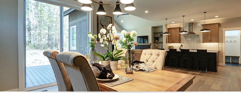 Willamette home design, dining room